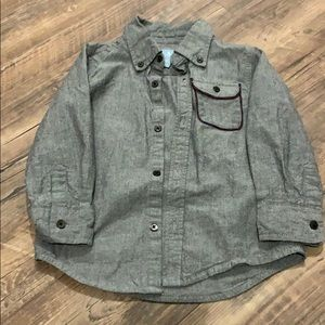 Gap toddler boy button down long sleeve